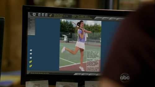 Castle Inventing the girl Beckett tennis model