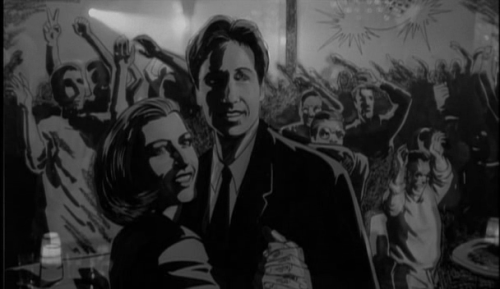Mulder Scully dance The post modern prometheus